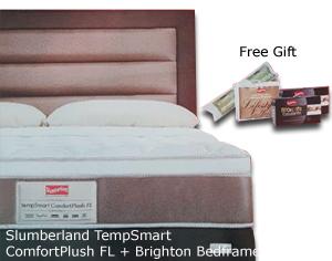 Slumberland TempSmart ComfortPlush FL Brighton Bedframe Pocketed Springing Exclusive Tempsmart Features